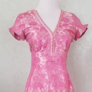 Marc Jacobs pink matallic dress (F2-0)